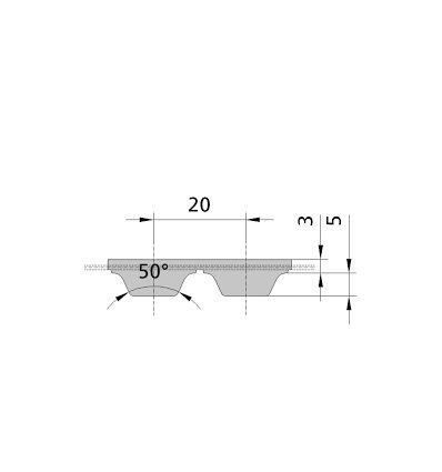 Ремінь поліуретановий AT20 1200 (рукав)