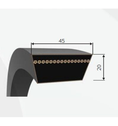 Ремень вариаторный 45x20-1880 Lw